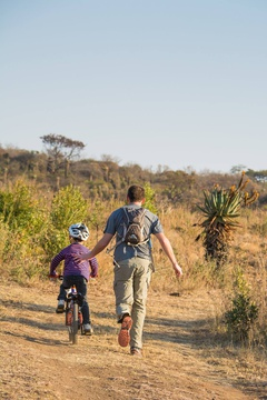 Mountain Biking an activity to enjoy whilst on a family safari holiday at Fugitives Drift Lodge & Guest House, KZN, South Africa