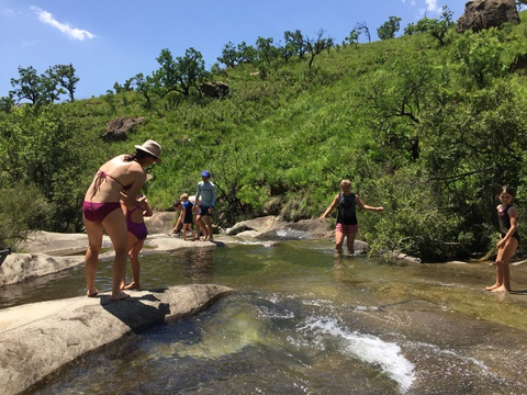Family river swims an activity to enjoy whilst on a family safari holiday at Three Tree Hill in KZN, South Africa.