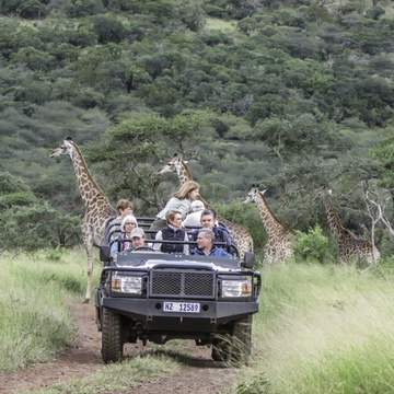 On a Family Safari Holiday at Leopard Mountain in KZN, South Africa.